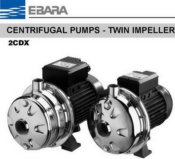 ปั๊มน้ำมีกี่ประเภท ปั๊มน้ำเอบาร่า EBARA รุ่น 32-200_4.0