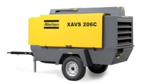 ปั๊มลมสกรูชนิดติดเครื่องยนต์ Portable Atlascopco รุ่น XAHS 166C