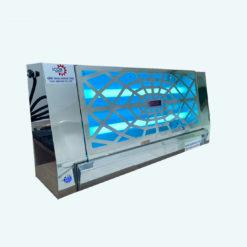เครื่องไฟดักแมลงสแตนเลส แบบกาว SPIDER รุ่น : SD-20GBS/SP (แผ่นกาว 2 แผ่น หลอดไฟกันระเบิด)